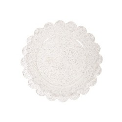 8ct Plastic Scalloped Snack Plates Gold Glitter - Spritz™