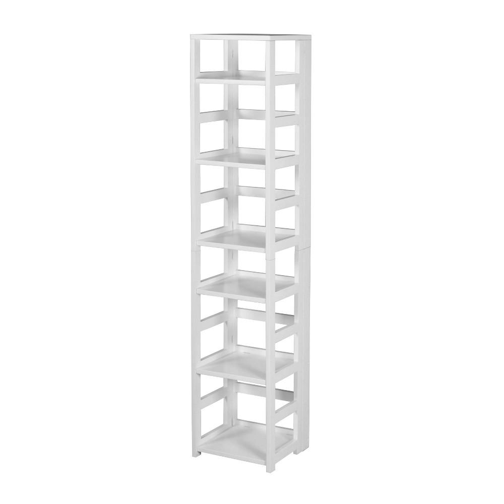 67 Cakewalk High Square Folding Bookcase White - Regency
