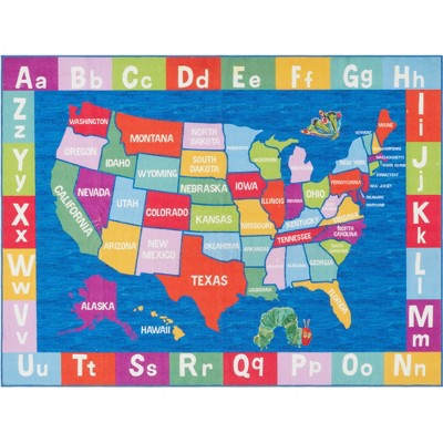 "Eric Carle USA Map Area Rug (2'9""x4'3"") - Home Dynamix"