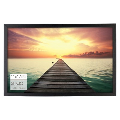 "11"" x 17"" Plastic Single Image Frame Black - Snap"
