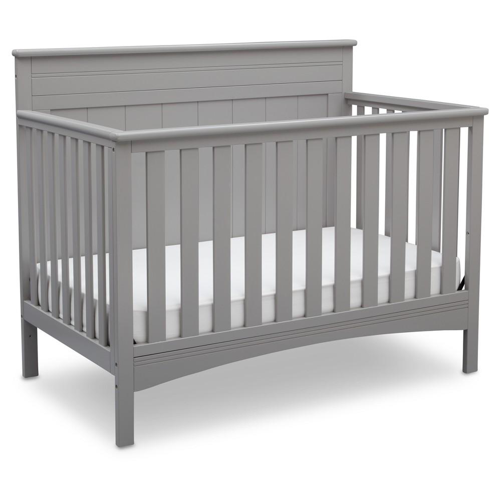 Image of Delta Children Fancy 4-in-1 Standard Full-Sized Crib - Gray