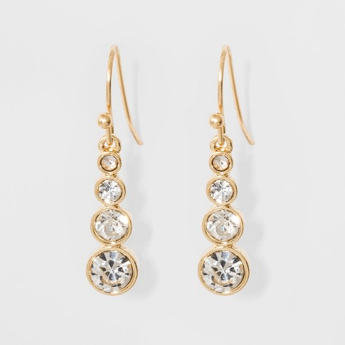 Gradient Stones Earrings - A New Day™ Gold - image 1 of 3