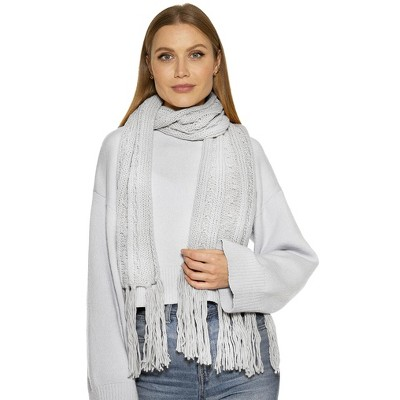 Alexia Admor Rosie Cable Knit Scarf With Fringe