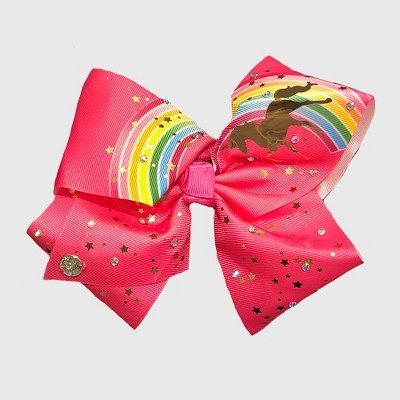 Girls' Nickelodeon JoJo Siwa Rainbow & Unicorn Bow Hair Clip - Pink