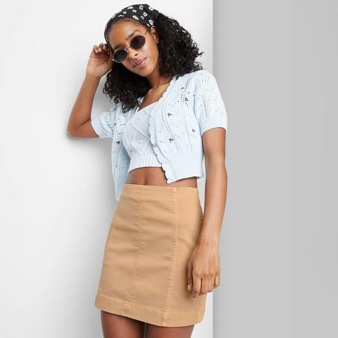 Women's Seamed Denim Mini Skirt - Wild Fable™ - image 1 of 3