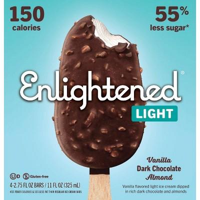 Enlightened Vanilla Dark Chocolate Almond Ice Cream Bar - 10.6oz/4ct