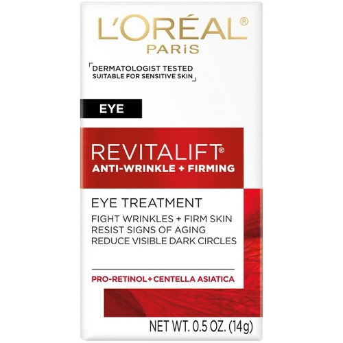 Unscented L'Oreal Paris Revitalift Anti-Wrinkle + Firming Eye Cream - .5oz