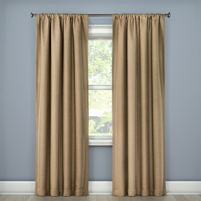 Lorcan Light Blocking Curtain Panel Tan (52 x95 )- Eclipse™