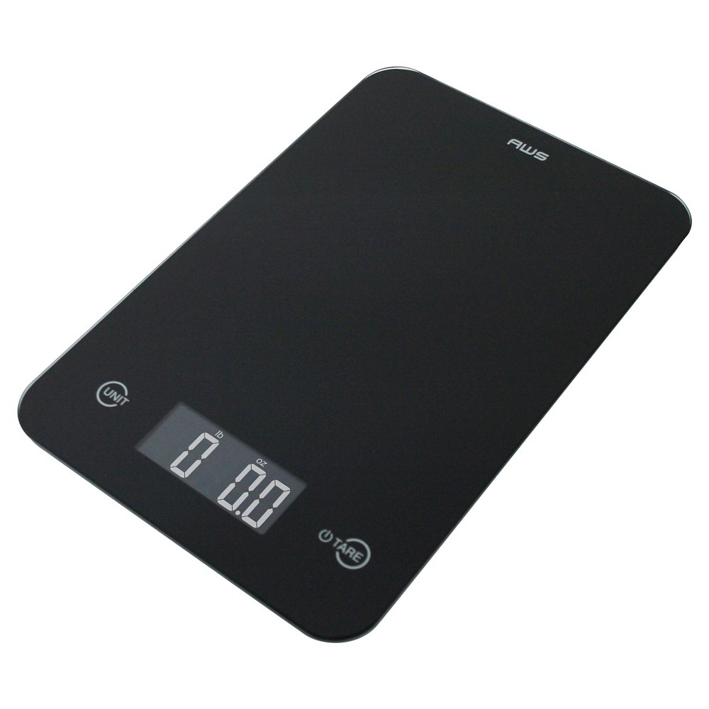 Image of AWS Digital Kitchen Scale, Black