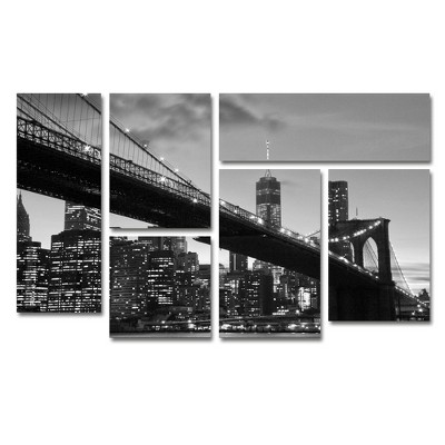 6pc Brooklyn Bridge 5 by CATeyes - Trademark Fine Art
