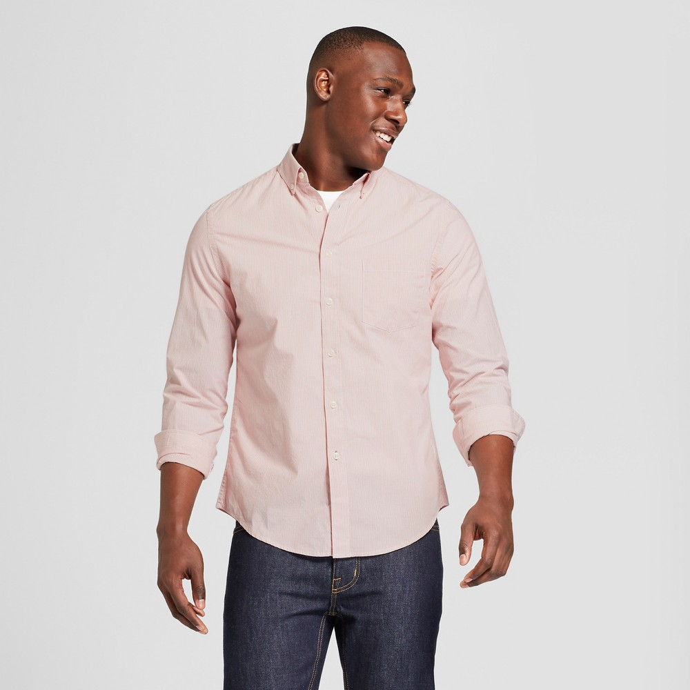 Men's Standard Fit Long Sleeve Northrop Button-Down Shirt - Goodfellow & Co Always Rosy S