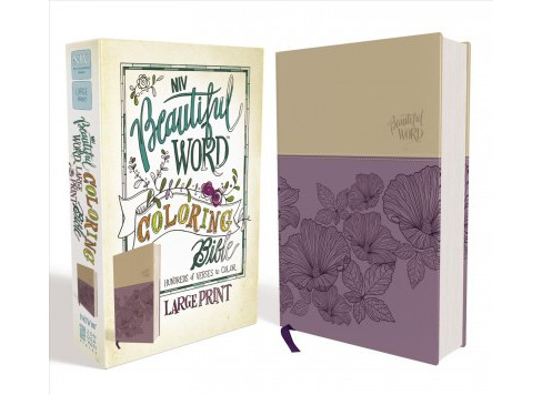 Beautiful Word Coloring Bible : New International Version, Purple / Tan, Leathersoft (Large Print) - image 1 of 1