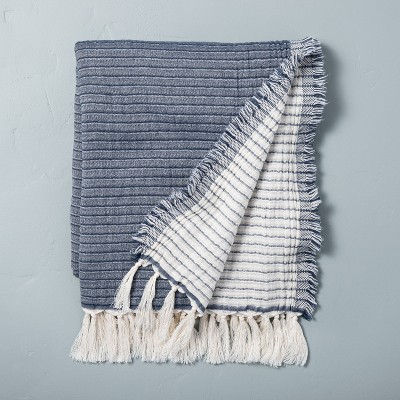Solid Gauze Throw Blanket Faded Blue - Hearth & Hand™ with Magnolia