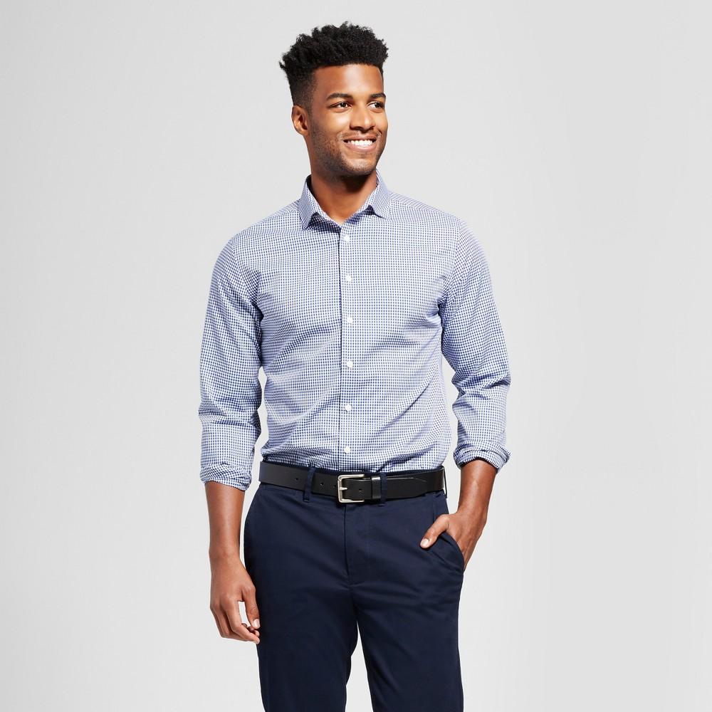 Men's Standard Fit Ultimate Button-Down Dress Shirt - Goodfellow & Co Blue Plaid M