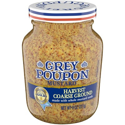 Grey Poupon Mustard Harvest Coarse Ground - 8oz