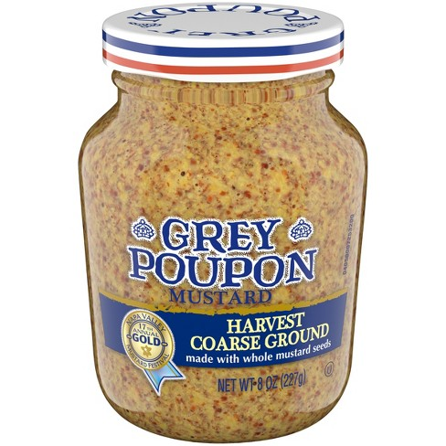 Gray Poupon Mustard Harvest Coarse Ground - 8oz - image 1 of 3