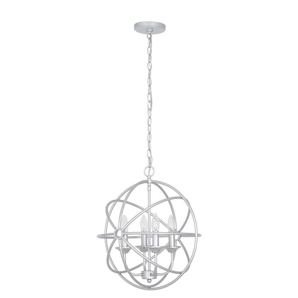 Image of Four Light Orb Pendant Silver - Cresswell Lighting