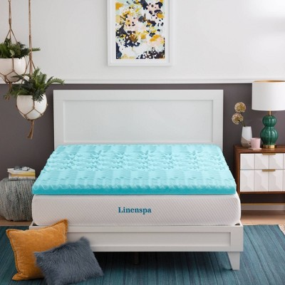 "Essentials 3"" 5-Zone Gel Memory Foam Mattress Topper - Linenspa"