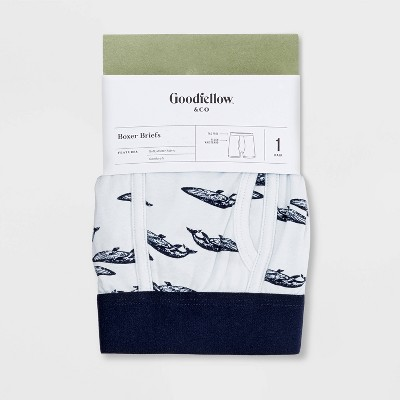 Men's Blue Whales Boxer Briefs - Goodfellow & Co™