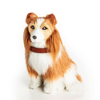 """The Queen's Treasures 18"""" Doll Pet Accessory - Collie Dog with Collar & Leash"""