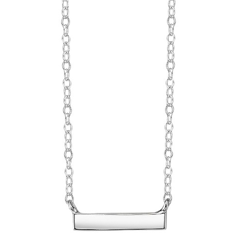 Sterling Silver Bar Station Necklace - Silver - image 1 of 1