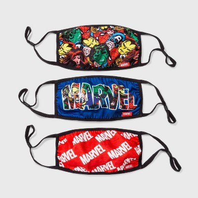 Adult 3pk Marvel Cloth Face Mask - One Size