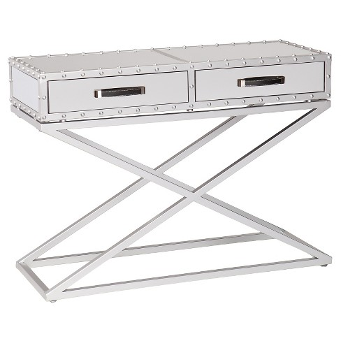 Lazio Industrial Mirrored Console Table - Aiden Lane - image 1 of 3