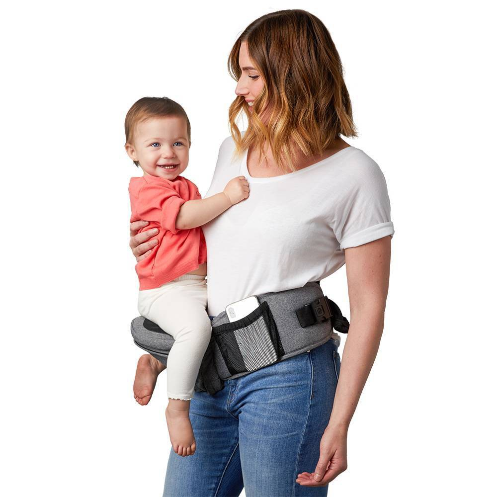 Image of TushBaby Baby Carrier - Gray
