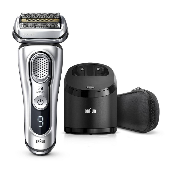 Braun Series 9 Men's Rechargeable Wet & Dry Cordless Electric Foil Shaver With Clean & Charge Station 9370cc : Target