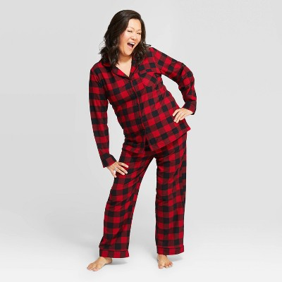 womens-buffalo-check-flannel-pajama-set---wondershop-red by shop-collections