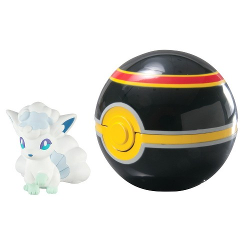 Pokemon Clip 'N' Carry Poke Ball w Figure Alolan Vulpix and Luxury Ball - image 1 of 2