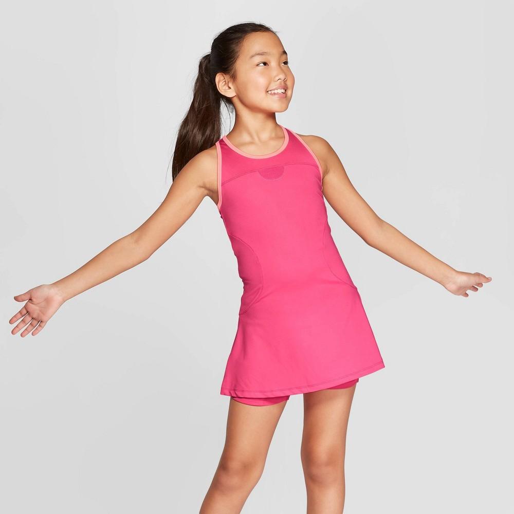 Girls' Tennis Dress - C9 Champion Pink L
