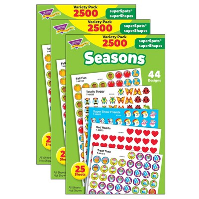 Trend Enterprises Seasons superSpots superShapes Variety Pack Multicolored T-46914-3