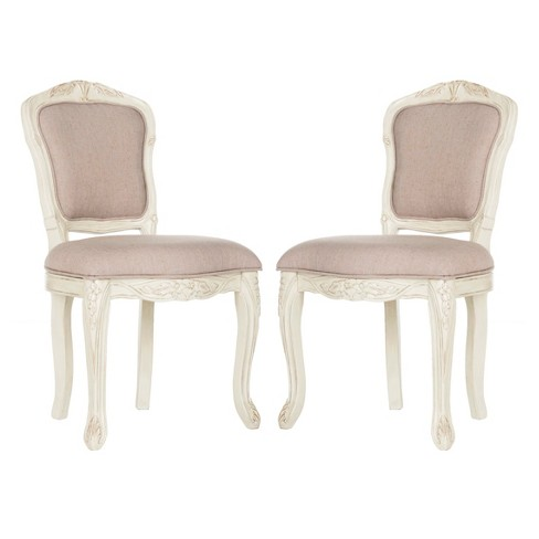 Dining Chairs  Taupe Vintage White - Safavieh - image 1 of 5