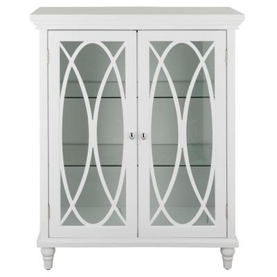"""32"""" Laurel Double Door Floor Cabinet White - Elegant Home Fashions"""