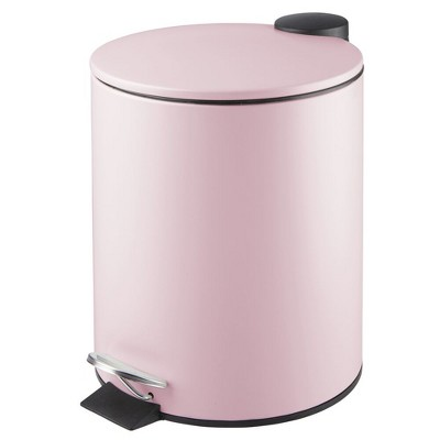 mDesign Round Step Garbage Trash Can, Removable Liner, 1.3 Gallon
