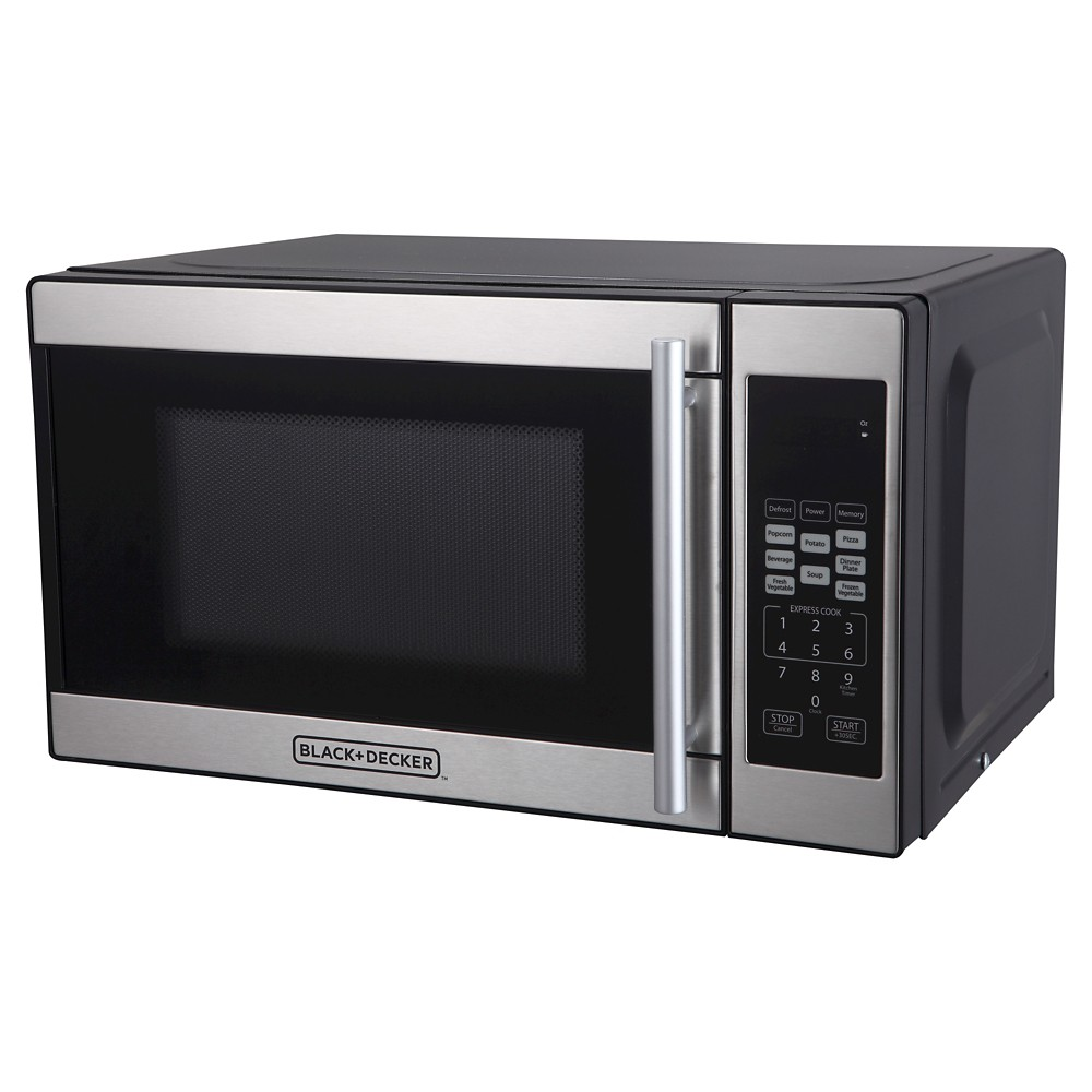 Image of BLACK+DECKER 0.7 cu ft 700W Microwave Oven - Black EM720CPN-P