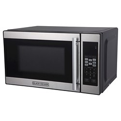 BLACK+DECKER 0.7 cu ft 700W Microwave Oven - Black EM720CPN-P