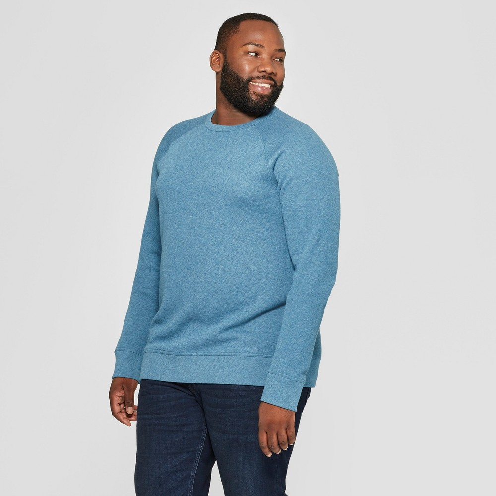 Men's Tall Standard Fit Long Sleeve Waffle Thermal T-Shirt - Goodfellow & Co Teal (Blue) LT