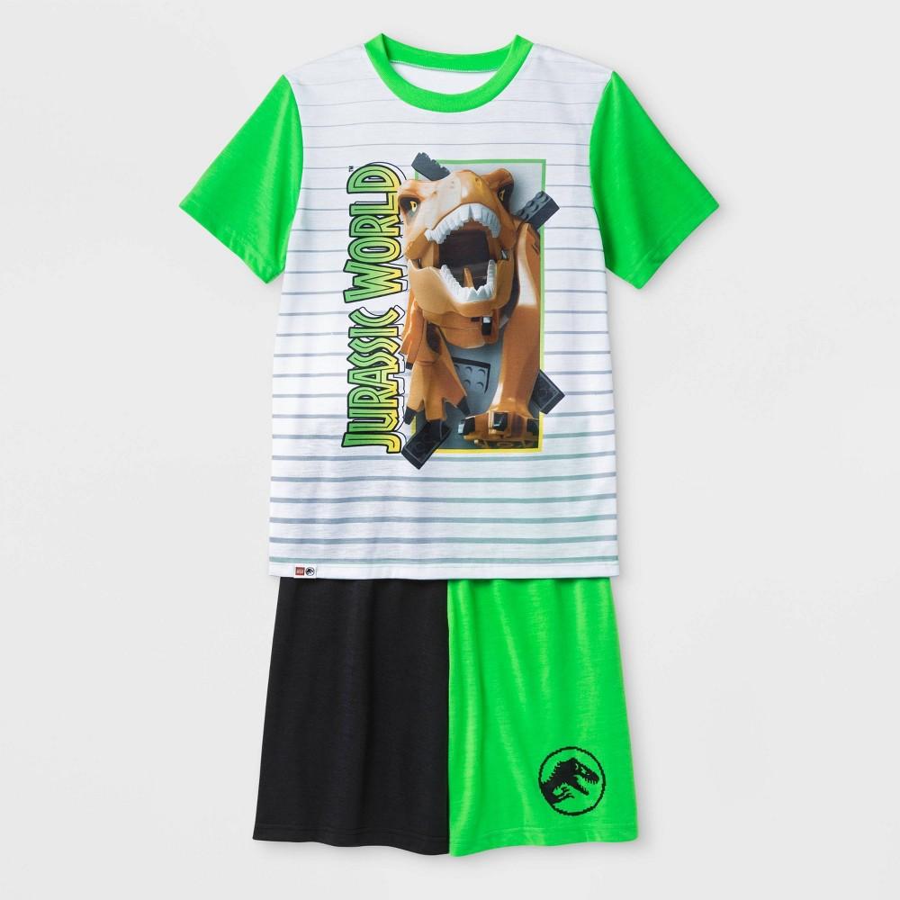 Image of petiteBoys' Lego Jurassic 2pc Short Sleeve Pajama Set - Green S, Boy's, Size: Small