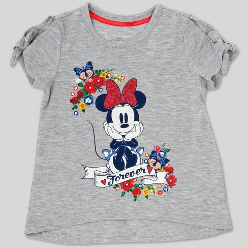 619356179d Toddler Girls' Disney Mickey Mouse & Friends Minnie Mouse Skirt Set - Gray  : Target