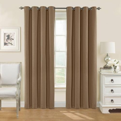 95 X54 Nadya Solid Blackout Curtain Panel Teak Eclipse