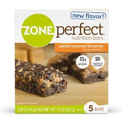 Zone Perfect Nutrition Bar Salted Caramel Brownie - 1.76oz(5pk)