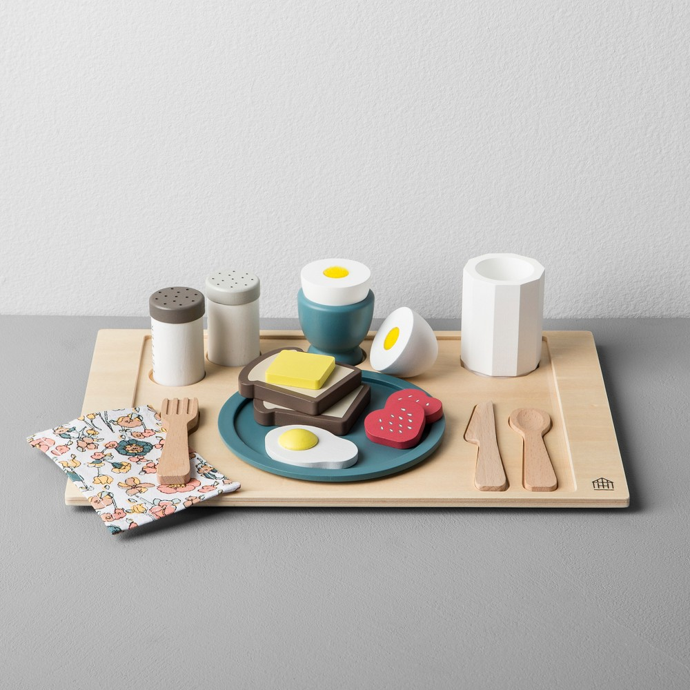 Image of Wooden Toy Breakfast Tray - Hearth & Hand with Magnolia