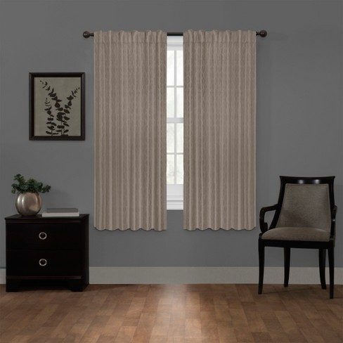 "Ainsley Platinum Blackout Smart Curtain Panel Beige 50""x63"" - Maytex - image 1 of 8"