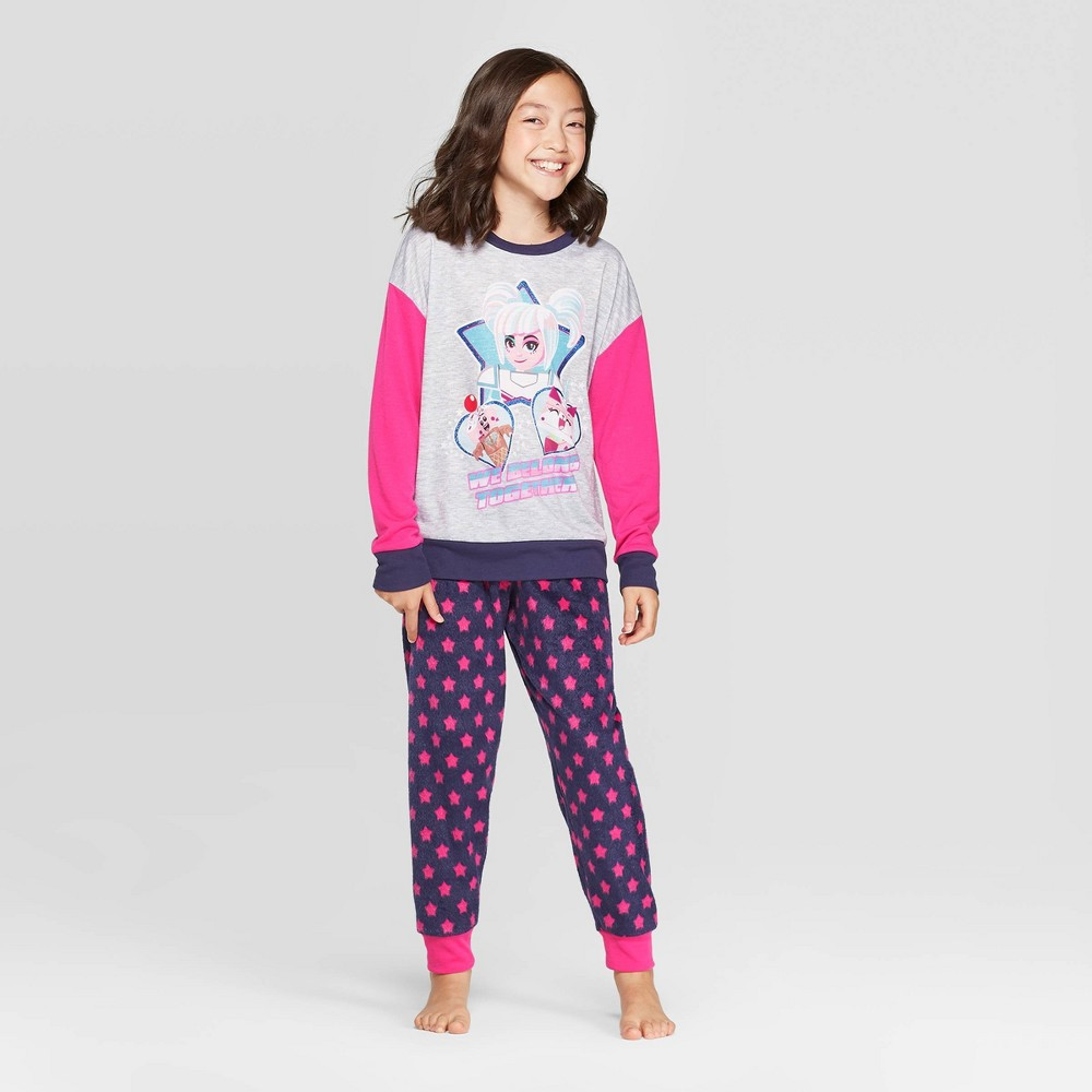 Image of Girls' The LEGO Movie 2 2pc Pajama Set - Pink 4-5, Girl's