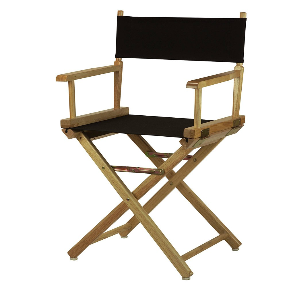 Director S Chair Canvas Black Natural Flora Home