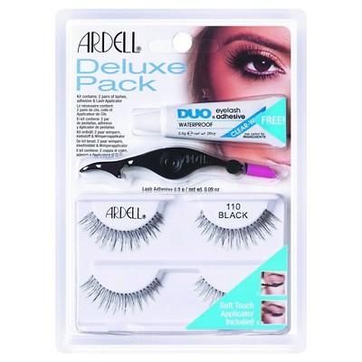 Ardell Eyelash 110 Deluxe Kit Black - 2ct