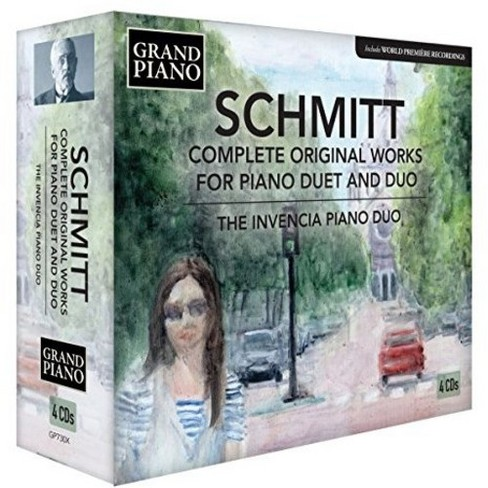 Invencia Piano Duo - Schmitt:Complete Piano Duet And Duo W (CD) - image 1 of 1