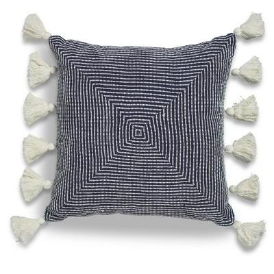 "20""x20"" Oversize Linea Square Throw Pillow Blue - Sure Fit"